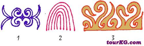 киргизские орнаменты