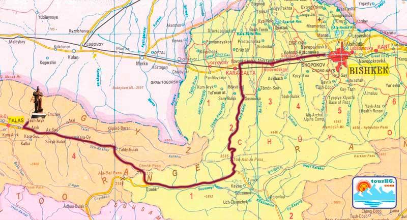 карта Манас ордо фото