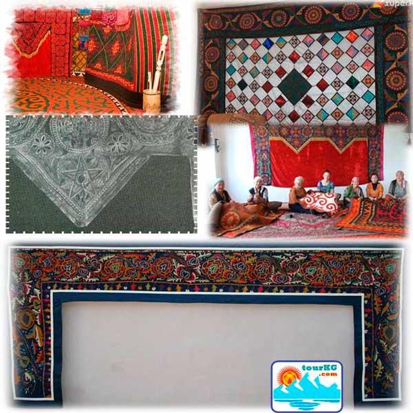 туш кийиз - пример кыргызского прикладного творчества