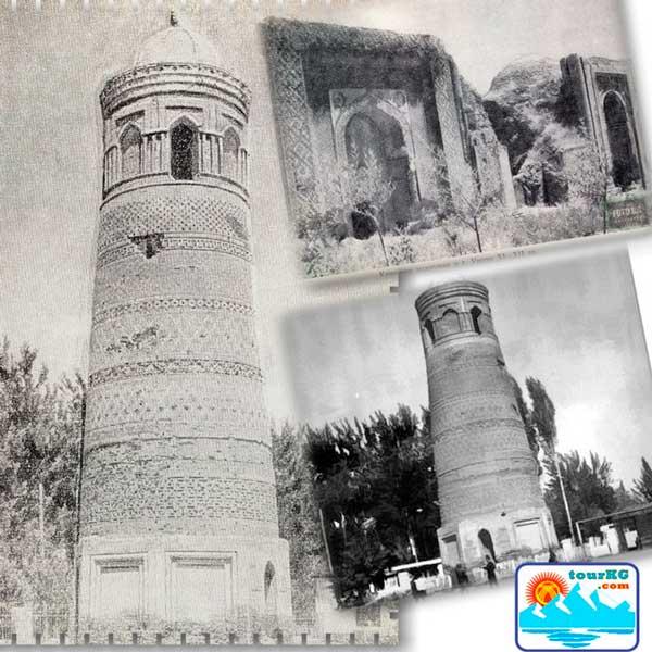 Узгенский минарет и три мавзолея фото