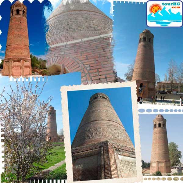 Минарет в городе Узген - памятник 11 века