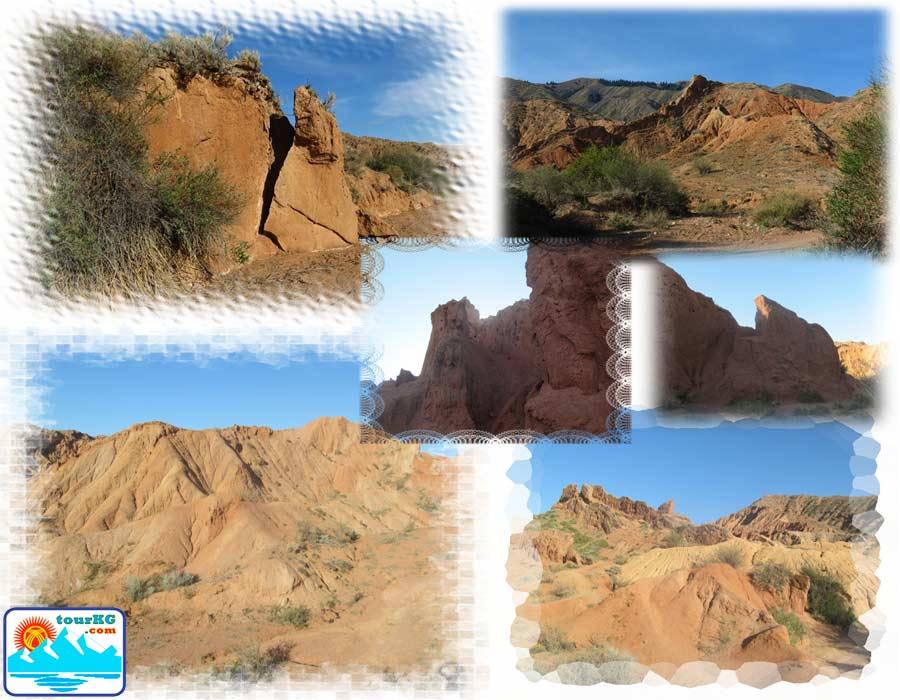 Сказка - каньон на берегу озера Иссык-Куль